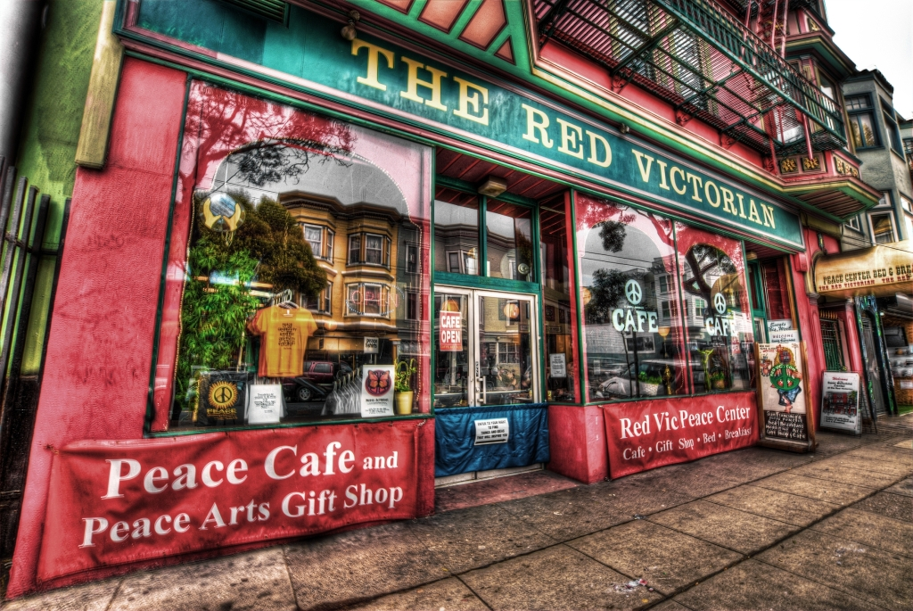 The Red Victorian Hotel and Cafe - Haight-Ashbury District, SF
