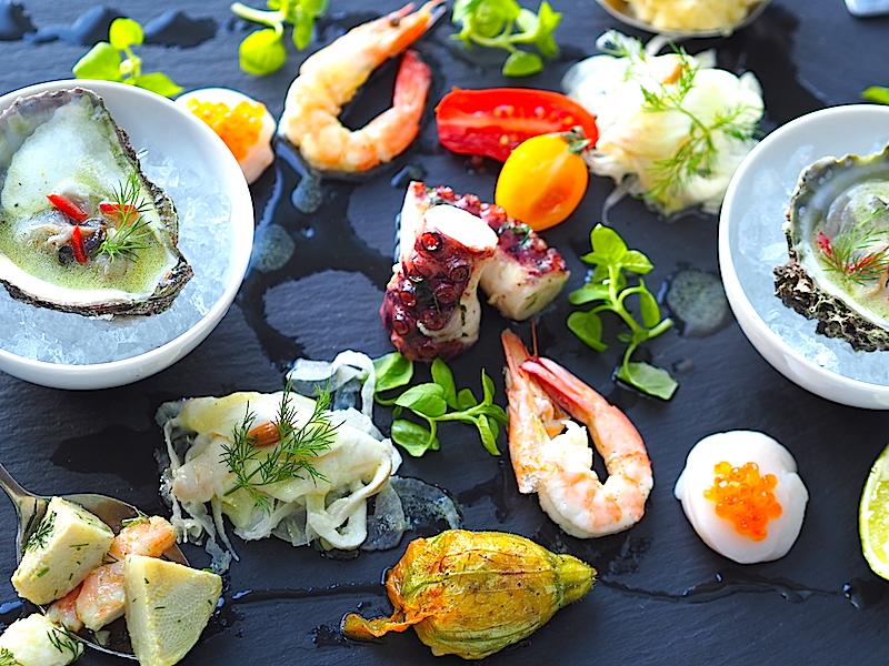 Lacivert Restaurant İki Kişilik Soğuk Deniz Tabağı