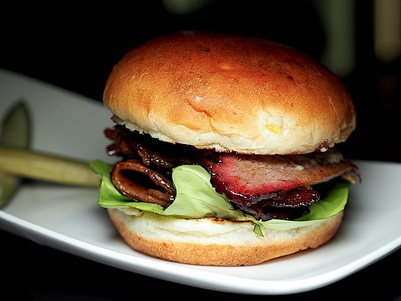 Porter Bar. B. Q. Brisket Burger